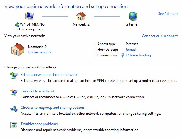 The Action Center, Windows Update, Firewall and the Network