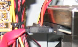 SATA connection of a hard disk